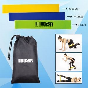 Fitness Resistance Band Set w/ Pouch