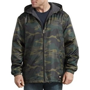 Dickies� Men's Hooded Camo Fleece Lined Jacket